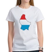 Flag Map of Luxembourg Tee