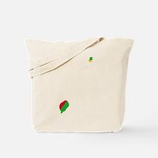 Sao Tome and Principe Flag and Map Tote Bag