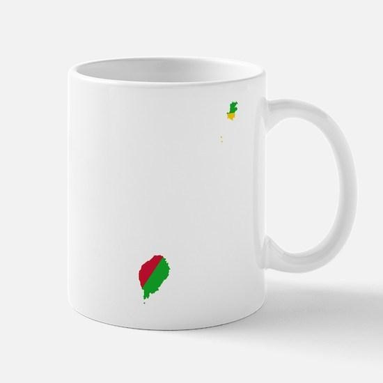 Sao Tome and Principe Flag and Map Mug