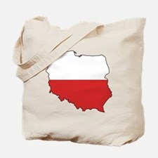 Flag Map of Poland Tote Bag