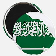 Saudi Arabia Flag and Map Magnet