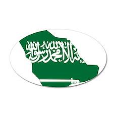 Saudi Arabia Flag and Map Wall Decal