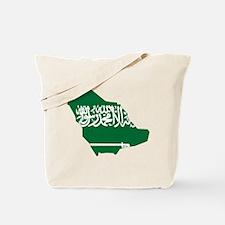 Saudi Arabia Flag and Map Tote Bag