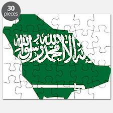 Saudi Arabia Flag and Map Puzzle