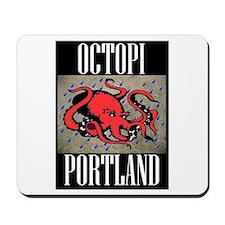 Octopi Portland (rainy version) Mousepad