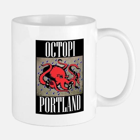 Octopi Portland (rainy version) Mug