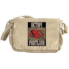 Octopi Portland (rainy version) Messenger Bag