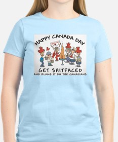 Get Shit Faced Blame Canadians T-Shirt