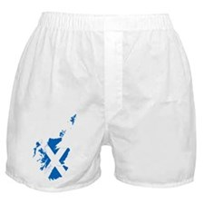 Scotland Flag and Map Boxer Shorts