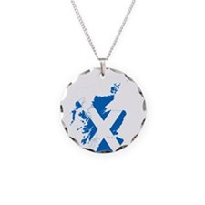Scotland Flag and Map Necklace