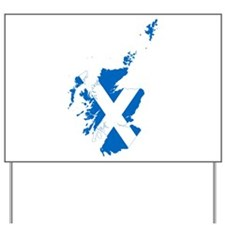 Scotland Flag and Map Yard Sign