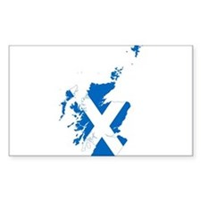 Scotland Flag and Map Decal