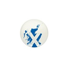 Scotland Flag and Map Mini Button (10 pack)