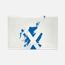 Scotland Flag and Map Rectangle Magnet