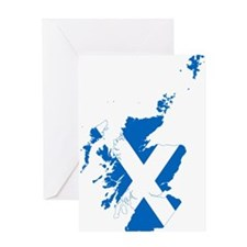 Scotland Flag and Map Greeting Card