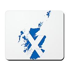 Scotland Flag and Map Mousepad
