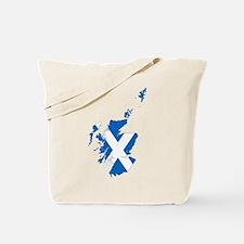 Scotland Flag and Map Tote Bag