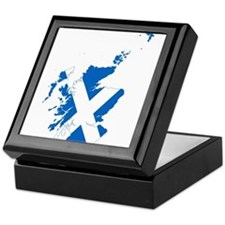Scotland Flag and Map Keepsake Box