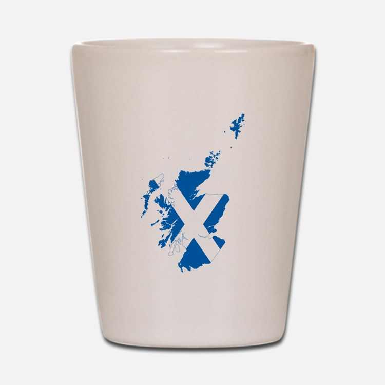 Scotland Flag and Map Shot Glass