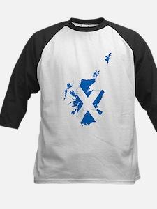 Scotland Flag and Map Tee