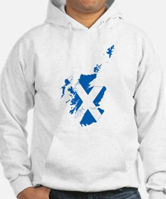 Scotland Flag and Map Hoodie