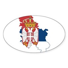 Serbia Civil Ensign Flag and Map Decal