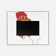 Serbia Civil Ensign Flag and Map Picture Frame