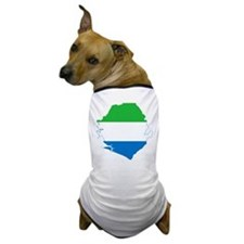 Sierra Leone Flag and Map Dog T-Shirt