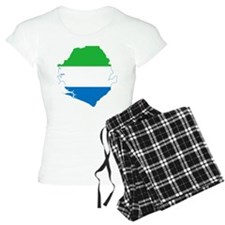 Sierra Leone Flag and Map Pajamas