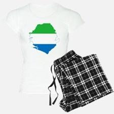 Sierra Leone Flag and Map pajamas