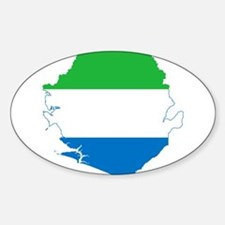 Sierra Leone Flag and Map Decal