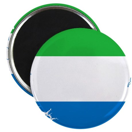 """Sierra Leone Flag and Map 2.25"""" Magnet (10 pack)"""