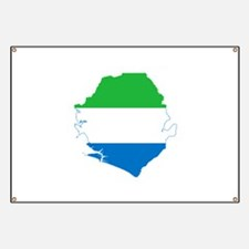 Sierra Leone Flag and Map Banner