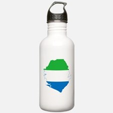 Sierra Leone Flag and Map Water Bottle