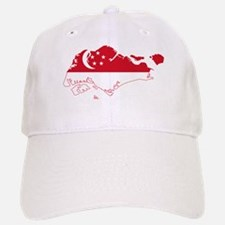 Singapore Flag and Map Baseball Baseball Cap