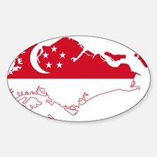 Singapore Flag and Map Decal