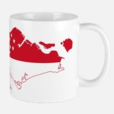 Singapore Flag and Map Mug