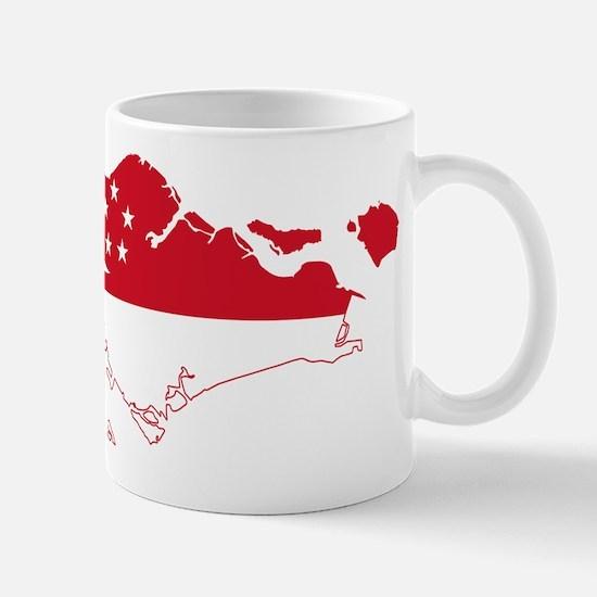 Singapore Flag and Map Mug