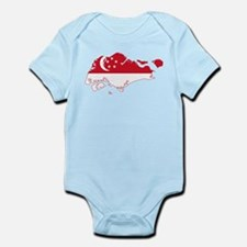 Singapore Flag and Map Infant Bodysuit