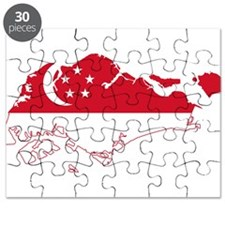 Singapore Flag and Map Puzzle