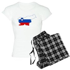 Slovenia Naval Jack Flag and Map pajamas