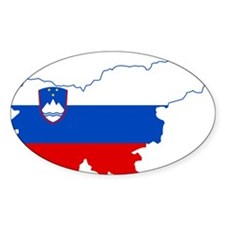 Slovenia Naval Jack Flag and Map Decal