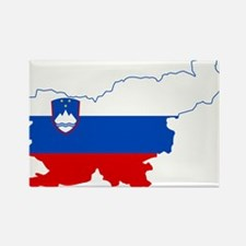 Slovenia Naval Jack Flag and Map Rectangle Magnet
