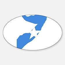 Somalia Flag and Map Sticker (Oval)