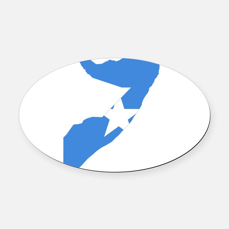 Somalia Flag and Map Oval Car Magnet