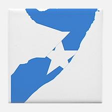 Somalia Flag and Map Tile Coaster