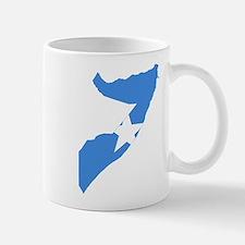 Somalia Flag and Map Mug