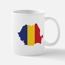 Flag Map of Romania Mug