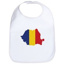 Flag Map of Romania Bib