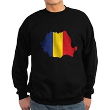 Flag Map of Romania Sweatshirt